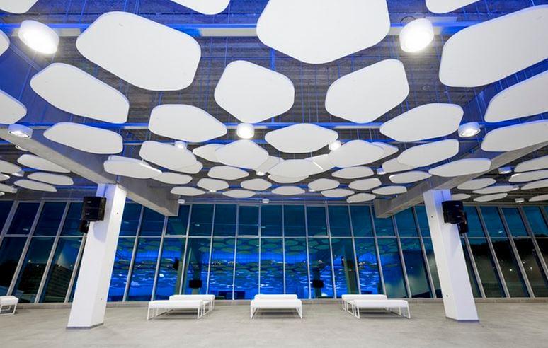 Pentagonal Acoustic Rafts Sound Absorbing Panels