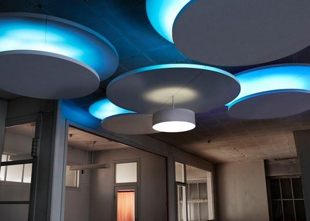 Gallery Image - Semi Circle Acoustic Rafts