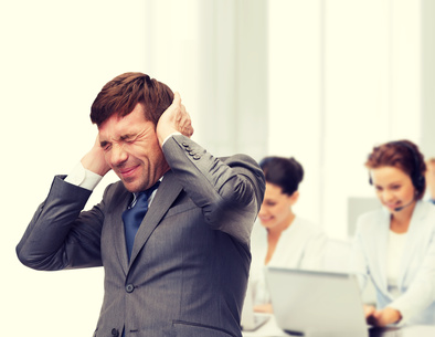 Noise in the workplace causing stress to business