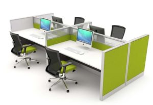 Desk Mounted Office Acoustic Screens