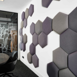 Hexagonal acoustic wall panels